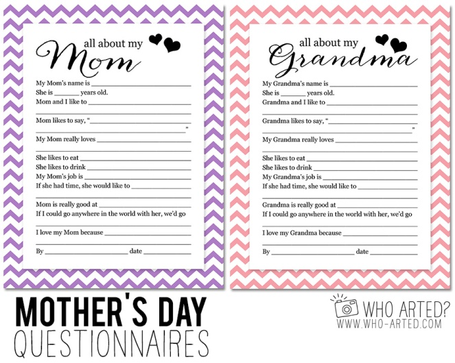 Mothers Day-Questionnaire mom